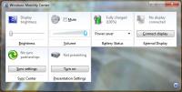 Windows Mobility Center Shortcut - Windows 7 Tips