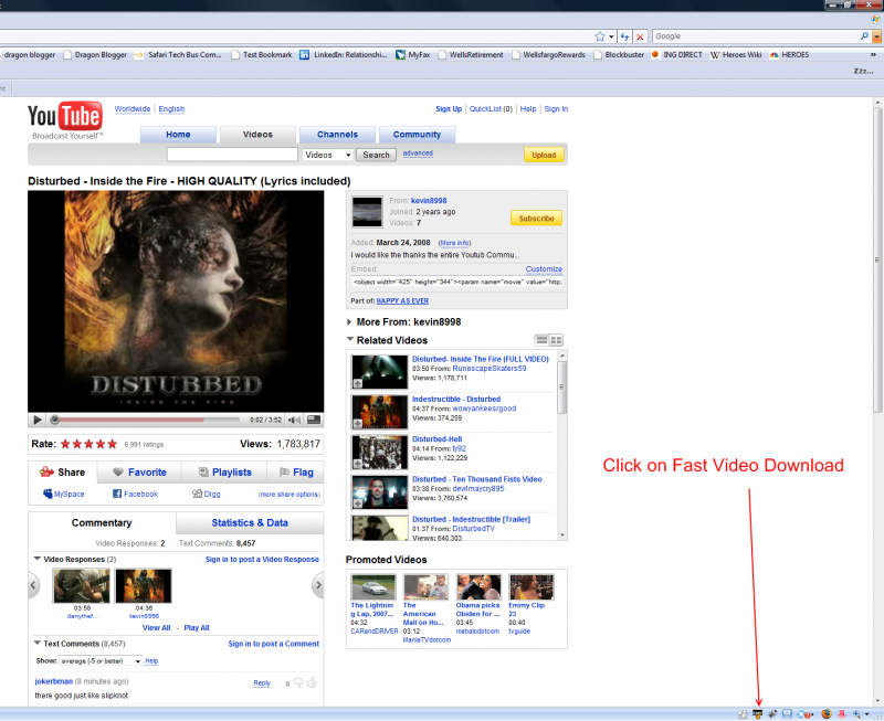 YouTube Disturbed